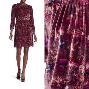 NWOT Rebecca Taylor Velvet Jewel Paisley Dress 6